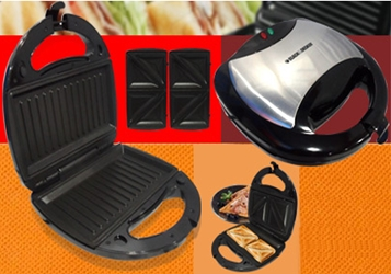 Black And Decker TS2080 220v 2-Slice Sandwich Maker Grill 220 Volt for Europe