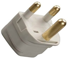 SS-415SA South Africa Universal Grounded Plug Adapter Big Three Round Prongs