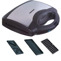 Daewoo DSM9790 220 Volt 3-In-1 Sandwich & Waffle Maker & Grill Daewoo DSM9790, DAEWOO SANDWICH MAKER, 220-240V, 220-240 VOLT, SANDWICH MAKER FOR EXPORT, SANDWICH MAKER FOR OVERSEAS, INTERNATIONAL SANDWICH MAKER