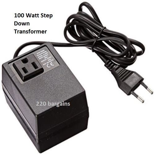 100 Watt 220/240 To 110/120 Volt European Socket Power Converter Step Down Transformer