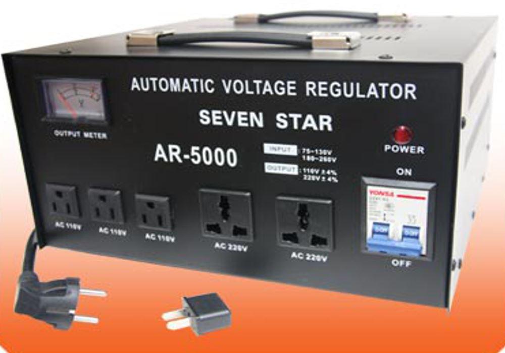 5000 Watt Voltage Regulator Transformer Step UP /& Down Converter 110V//220V