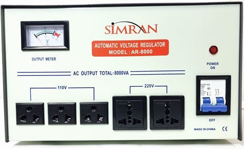 Simran 8000 Watt Voltage Converter with Stabilizer AR8000