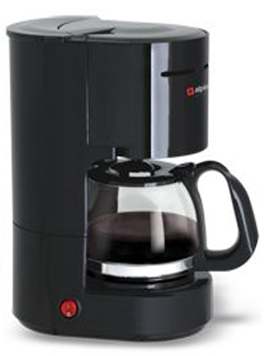 Alpina 220 240 Volt 6-Cup Coffeemaker Europe Asia UK Africa - BLACK