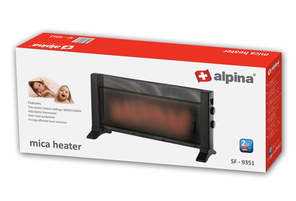 Alpina SF-9351 220 Volt Mica Large Room Heater