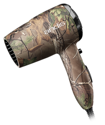 Andis Camo Quiet Turbo 1875W Hair Dryer 125-250 Volt Worldwide Use