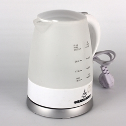 Black And Decker JC10 220 Volt Electric Kettle 1700 Watt 220v European Cord Plug