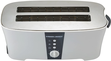Black And Decker ET124 220 Volt 4-Slice Cool-Touch Toaster For Export Overseas Use