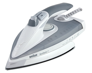 Braun TS785 220 240 Volt Steam Iron Auto Shut-Off 2400W With Extra Soleplate