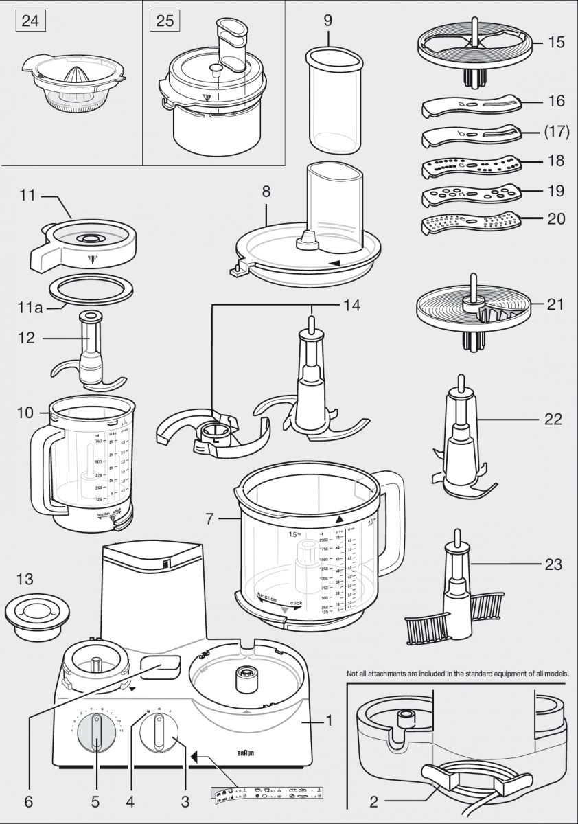 Braun Fx3030 220 Volt Food Processor With Attachments Non European Wiring Diagrams Home Usa For Europe Asia