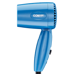 Conair 1600w Dual Volt Travel Folding Hair Dryer 110/220 Volt for WORLDWIDE USE