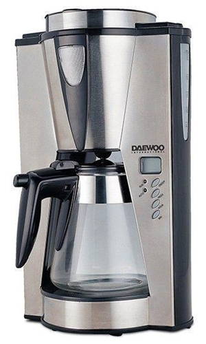 Daewoo 12-Cup 220 Volt Coffee Maker W/Timer Keep-warm Function Permanent Filter