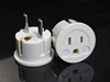 European Schuko Plug With Grounding SS-409 American to Euro Grounded Adapter