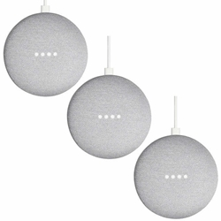 Google Home Mini Smart Speaker Powered By Google Assistant Chalk 3-PACK