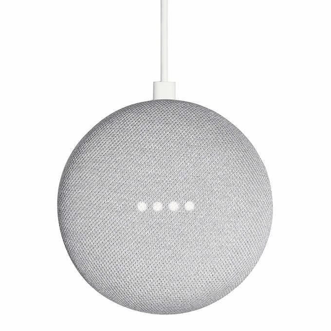 Google Home Mini Smart Speaker with Google Assistant Gray and Black