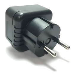 MVR-11 USA to Europe 5mm Plug Adapter plug adapter,mvr11,adapter plug,adaptor,plug socket,universal plug,adapters,europe,asia,africa,india,uk,universal adapters,220 plug,220v adapter,220 volt adapter,220 adaptor
