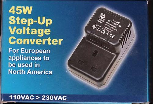 45 Watts Step Up converter for U.K. Appliances to use in US