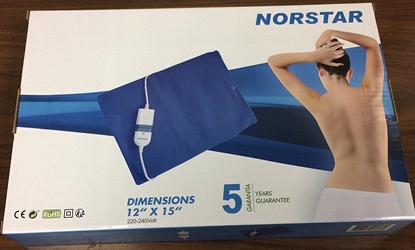 Norstar GG200 220 Volt King Size Heating Pad Moist Dry 220v European Plug Cord