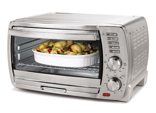 Oster NEW 220V Extra Large 6-Slice Convection Toaster Oven 1400 Watt with Timer
