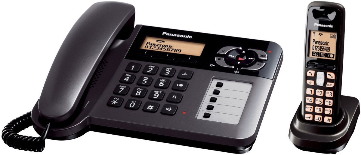 Panasonic 220 Volt KX-TG6458 2-Handset Home Phone For Europe Asia