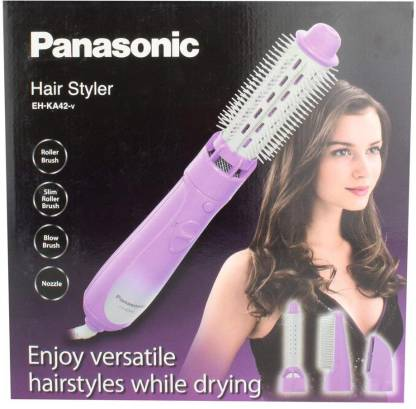 Panasonic EH-KA42 220 Volt Hair Styler Brush 4 Attachments 220V-240V For Overseas Countries