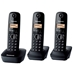 Panasonic KX-TG1613 New 220 Volt 3-Handset Cordless Phone 220v-240v For Overseas Use Only