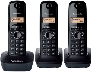 Panasonic KX-TG1613 New 220 Volt 3-Handset Cordless Phone 220v-240v For Overseas Use
