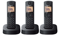 anasonic KX-TGC323 New 220 Volt 3-Handset Cordless Phone Answering Machine 220v-240v Export