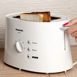 Panasonic 220 Volt 2-Slice Toaster 220v Voltage Power Cord Europe Asia Africa