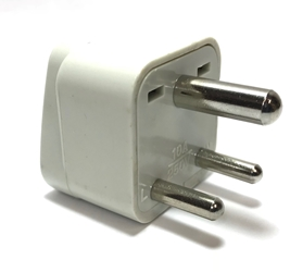 SS-415i India 3-Pin Universal Plug Adapter plug adapter,India,adapter plug,adaptor,ss415, plug socket,universal plug,adapters,three pin,3 pin,2 prong,europe,asia,africa,india,uk,universal adapters,220 plug,220v adapter,220 volt adapter,220 adaptor