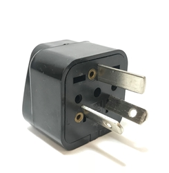 SS-416 Australia New Zealand China Universal Plug Adapter Black SS416, Australia,New Zealand,China, Universal PlugAdapter, 220v plug, adaptor, electric plug, electrical plug. wall plug