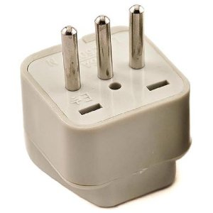 SS-418 Italy Universal Plug Adapter Three Prong