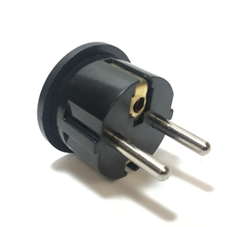 SS409 European Schuko Plug With Grounding Black European plug adapter,adapter plug,adaptor,plug SS-409, sevenstar,socket,universal plug,adapters,germany,europe,asia,africa,india,uk,universal adapters,220 plug,220v adapter,220 volt adapter,220 adaptor
