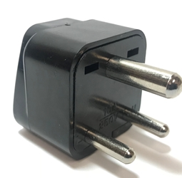 SS415i India 3-Pin Universal Plug Adapter Black plug adapter,India,adapter plug,adaptor,ss415, plug socket,universal plug,adapters,three pin,3 pin,2 prong,europe,asia,africa,india,uk,universal adapters,220 plug,220v adapter,220 volt adapter,220 adaptor