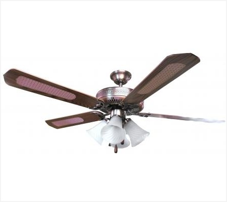 "Sakura 52"" 220 Volt Brass Ceiling Fan with Four Lights SAKURA SA52PB, SA52PB, 220-240V, 220-240 VOLT, FAN FOR EXPORT, FAN FOR OVERSEAS, FAN FOR DESK FAN, EXPORT, INTERNATIONAL FAN"