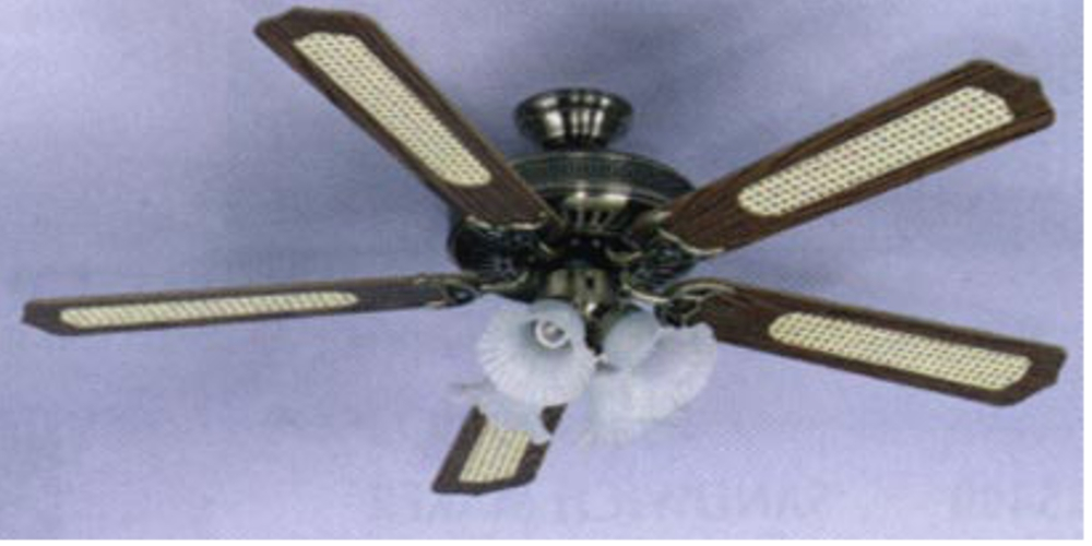 Sakura 52 220 volt brass ceiling fan with four lights sakura 52 220 volt ceiling fan europe asia africa 220240v polished brass mozeypictures Choice Image
