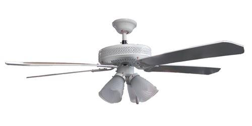 Sakura 52 220 Volt White Ceiling Fan With Four Lights Sa52w