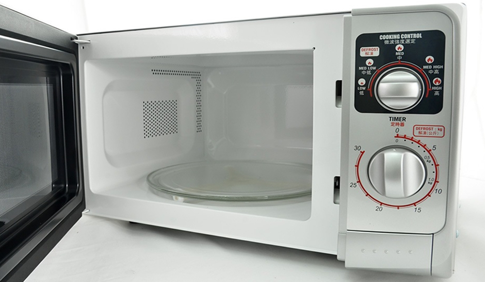Sharp R 219ts 220 Volt Medium Size 22l Microwave Oven