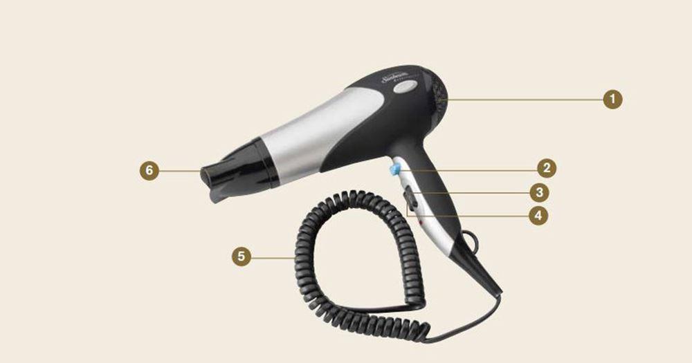 Sunbeam Hospitality 1800 Watt Hair Dryer 220 Volt Eu Plug Not For Usa