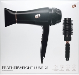 T3 Black Gold Color Featherweight Luxe 2i Professional Hair Dryer With Brush U.S. USE