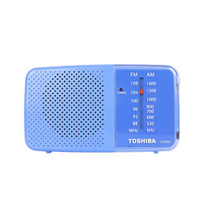 Toshiba TX-PR20 AM/FM Pocket Portable Battery Operated Radio Blue