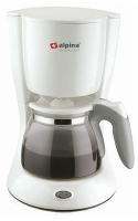 Alpina 220 Volt 10-Cup Coffeemaker (NOT FOR USA) Europe Asia UK Africa