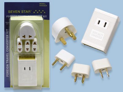 SS204K International Travel Voltage Adapter Kit