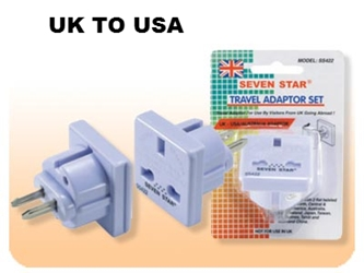 SS422 British UK To US Adapter Plug