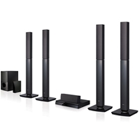 LG New LHD457 5.1 DVD Home Theater System Bluetooth HDMI PAL NTSC 110-220 Volt