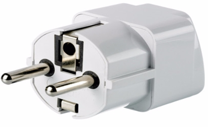 Plug Adapter - Grounded Universal Plug Adapter for Germany France Europe